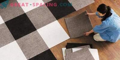 Плочки за килими: материални характеристики и предимства