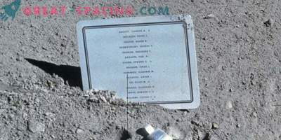 Why did they leave a sign on the moon with the names of the dead astronauts