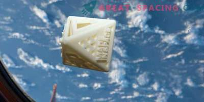 The first private 3D-printed object in space!