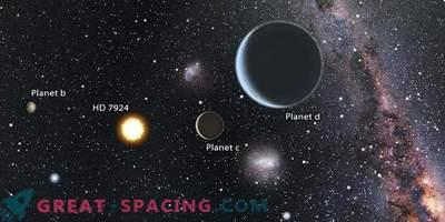 Sternensystem mit drei Superländern